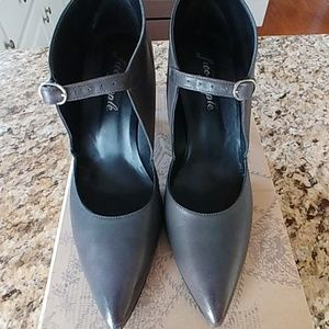 Free People gray heels..